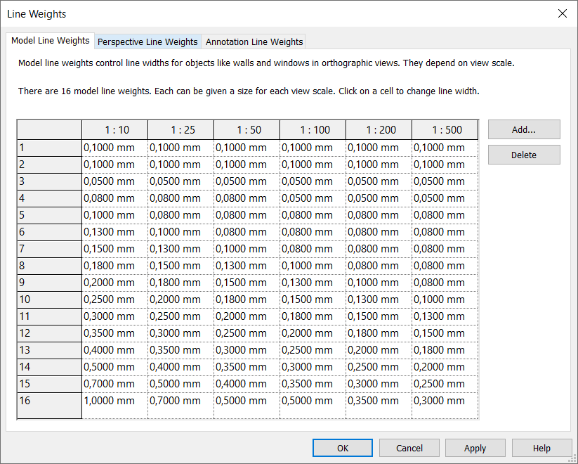 Revit Line Weights - engipedia