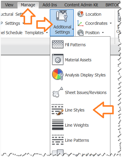 Revit-manage-line-styles