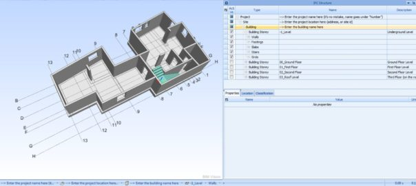 IFC Revit model building story preview in BIMvision