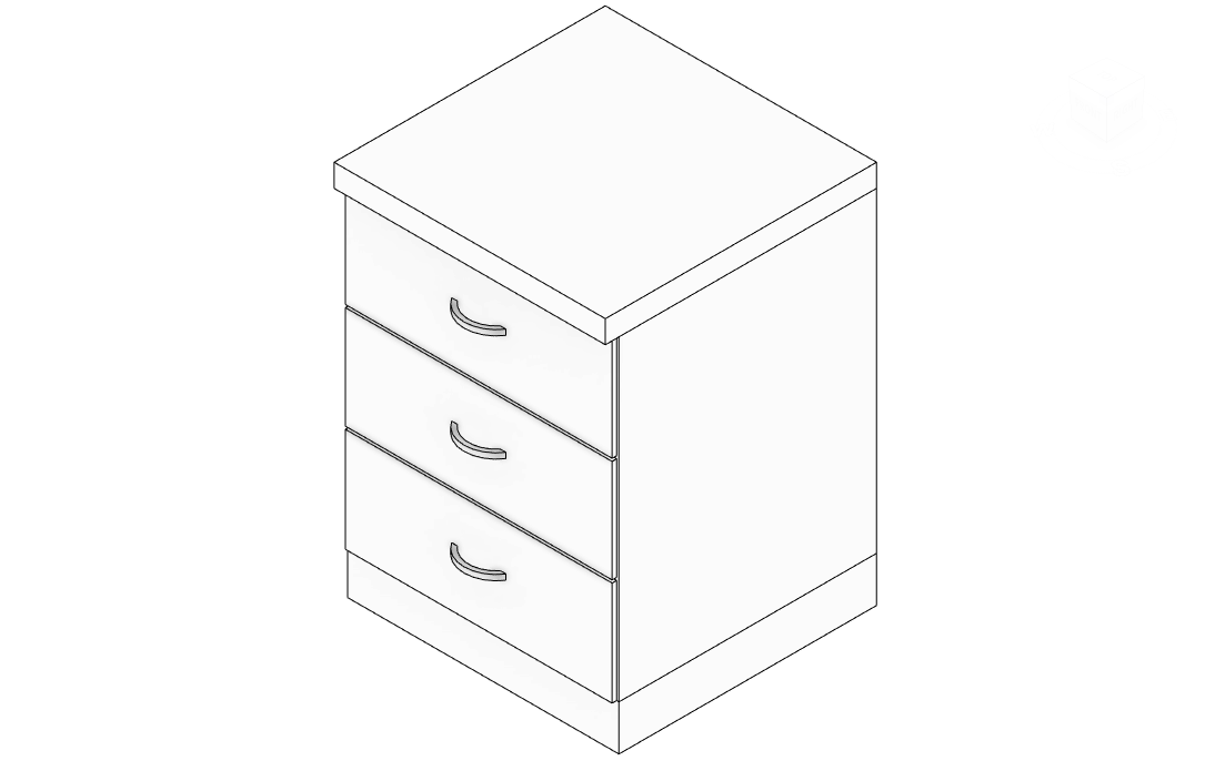 Kitchen Base Cabinet With 3 Drawers Engipedia